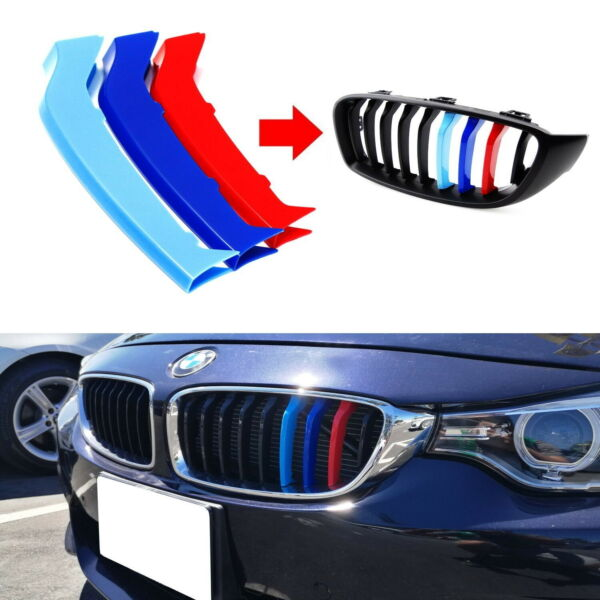 Exact Fit M-Colored Grille Insert Trims For 2014-up BMW F32 F33 F36 4 Series