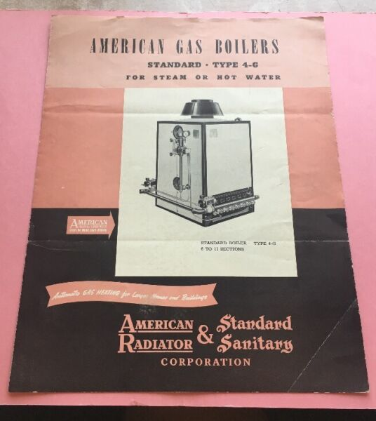JB789 Gas Boilers American Radiators Standard Sanitary Parts Catalog Heating $21.00