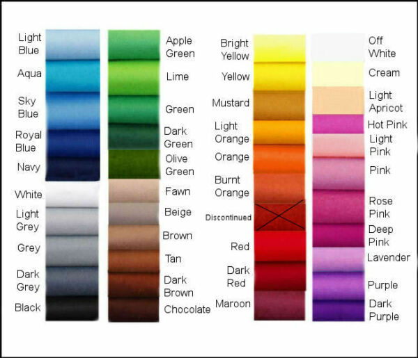 ECO Friendly - CHEMICAL FREE -  FELT CHOOSE YOUR OWN COLOURS!!! 24 squares