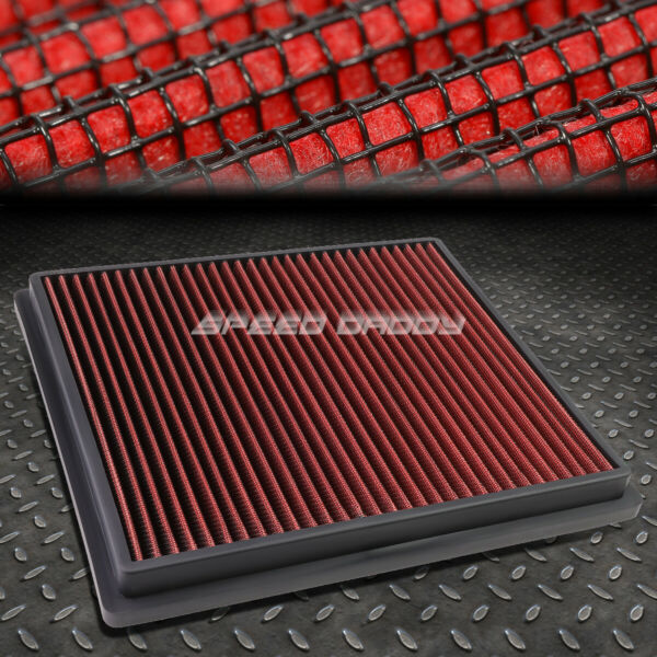 FOR MALIBU LACROSSE REGAL RED REUSABLE WASHABLE DROP IN AIR FILTER PANEL