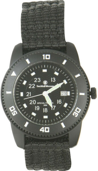 Smith & Wesson Commando Watch SWW-5982 Black face. Luminous markers. Black finis