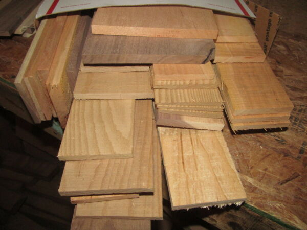 VARIOUS SIZES KILN DRIED SCRAP THIN LUMBER WOOD 1 8quot; TO 1 2quot; $33.99