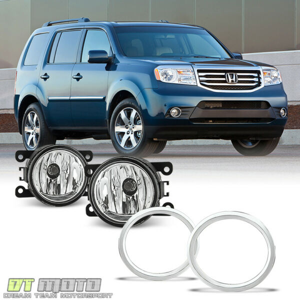 Glass Len For 2012-2015 Honda Pilot Bumper Driving Fog Lights +Switch Left+Right