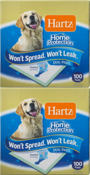 Hartz Dog Pads Home Protection 21x 21 Inch 100 Count 2 Pack $65.99