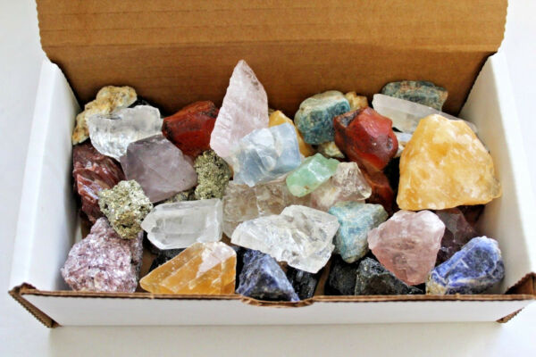 Bulk Crafters Collection 1 2 lb Box Gems Crystals Natural Raw Mineral 250g Rocks