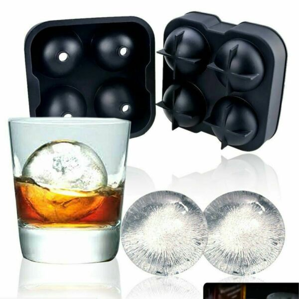 ICE Balls Maker Round Sphere Tray Mold Cube Whiskey Ball Cocktails Silicone $7.50