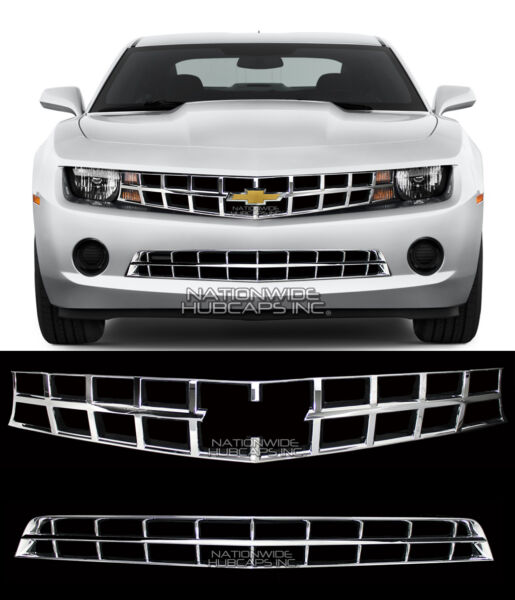 fits 2010-2013 Chevy Camaro LS LT CHROME Snap On Grille Overlay Covers Inserts