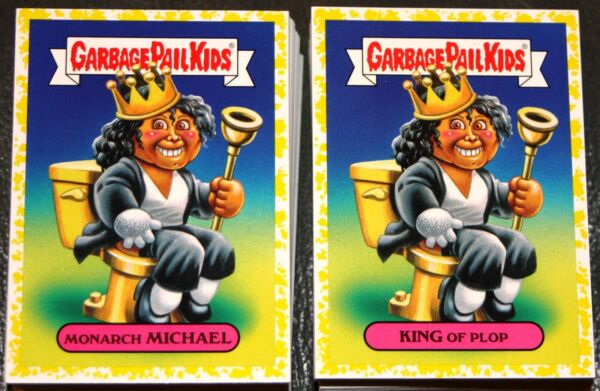 2017 GARBAGE PAIL KIDS BATTLE OF THE BANDS  COMPLETE YELLOW PHLEGM SET 180 CARDS