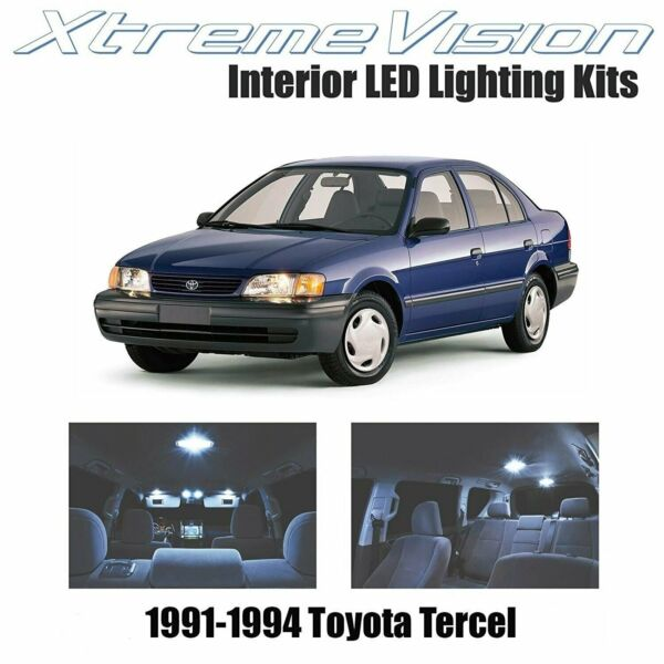 XtremeVision LED for Toyota Tercel 1991 1994 2 Pieces Cool White Premium Inter