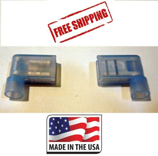 (50) 16-14 NYLON FEMALE FLAG TERMINAL RIGHT ANGLE ELECTRICAL CONNECTOR MADE USA
