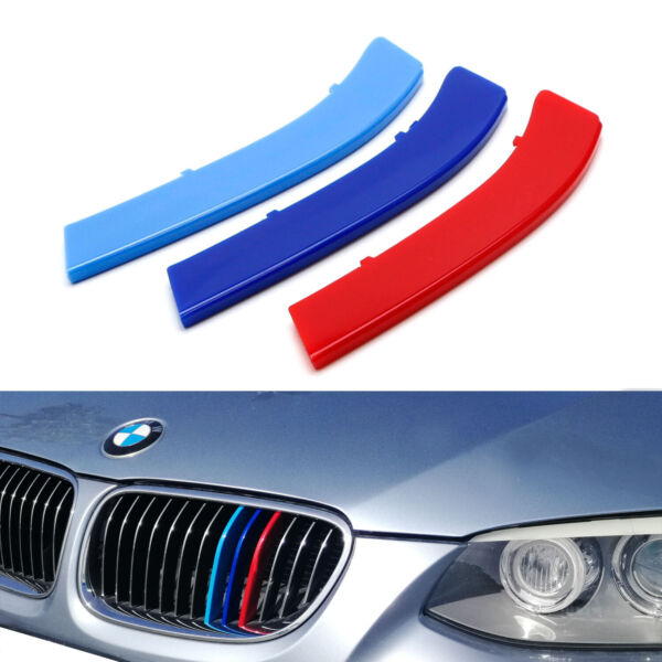 M-Color Grille Insert Trims For 11-13 BMW E92E93 3 Series Coupe w 13-Beams