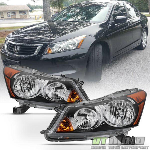 Factory Style Headlamps For 2008 2012 Honda Accord Sedan Headlights LeftRight