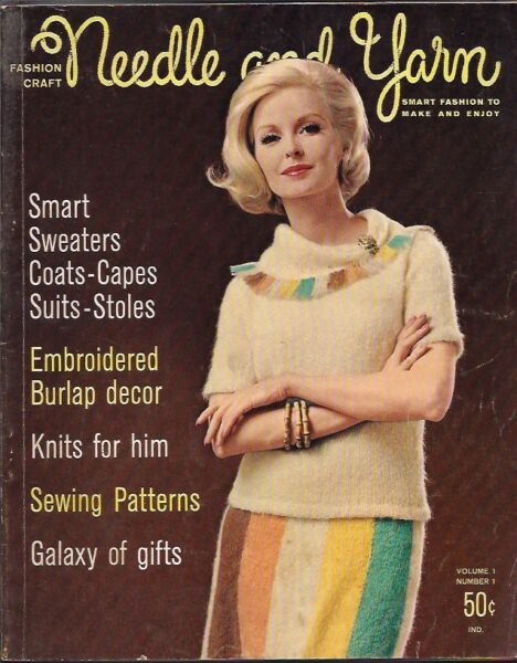 NEEDLE AND YARN 1963 SMART SWEATERS COATS CAPES SUITS STOLES BURLAP MENS GIFTS