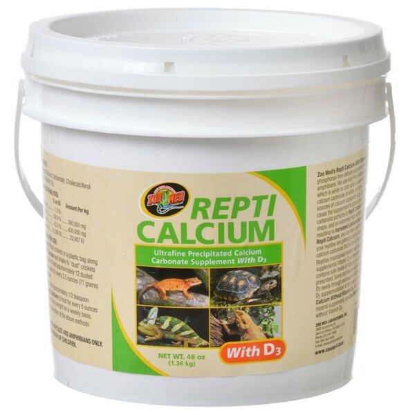 Zoo Med Repti calcium carbonate supplement W D3 net weight 48 oz $31.99