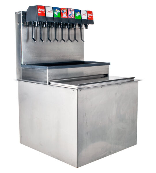 SODA FOUNTAIN 8 Flavor Drop In Complete System