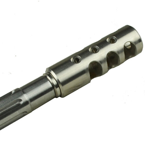 Stainless 5 8x24 TPI 308 .308 Competition Compensator Muzzle Brake Free Washer