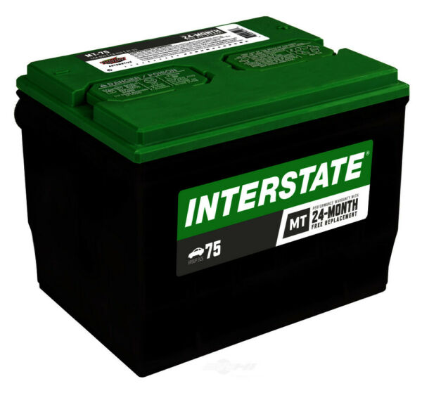 Car Battery-Mt INTERSTATE MT-75 Vehicle Starting Batteries Mega-Tron Group 75