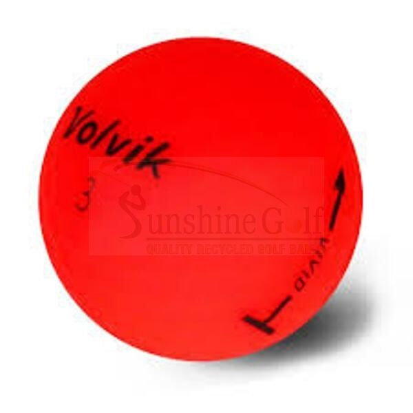 12 AAA Volvik Vivid Matte Red Used Golf Balls (3A) - FREE SHIPPING