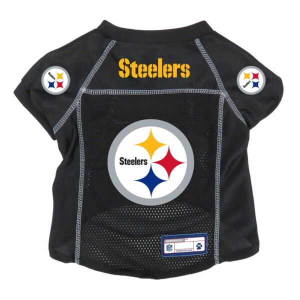 NEW PITTSBURGH STEELERS PET DOG PREMIUM ALTERNATE JERSEY wNAME TAG LE