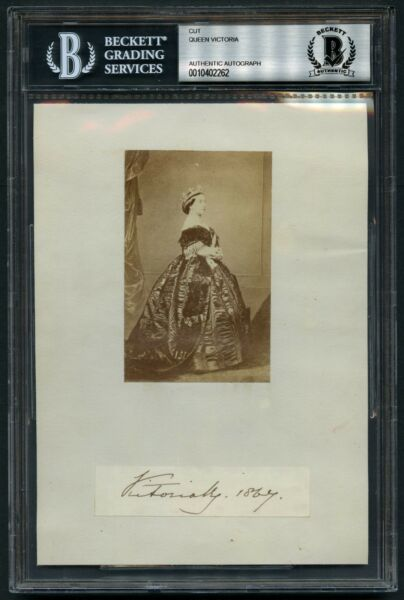 Queen Victoria (d. 1901) signed autograph auto 5x7 cut Queen United Kingdom BAS