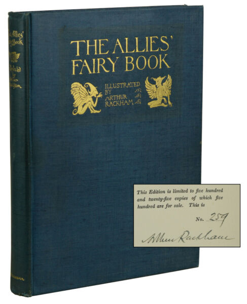 The Allies' Fairy Book ~ ARTHUR RACKHAM ~ Signed Limited Edition ~ 1916