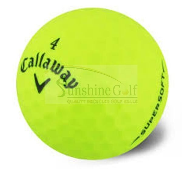 24 AAA Callaway Supersoft Yellow Used Golf Balls (3A) - FREE SHIPPING
