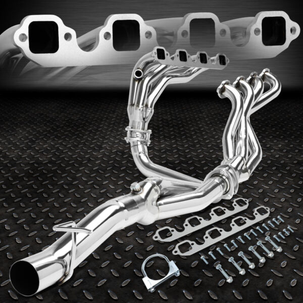 FOR 88-97 FORD F250/F350 7.5L V8 4-1 MID LENGTH EXHAUST HEADER MANIFOLD+Y-PIPE