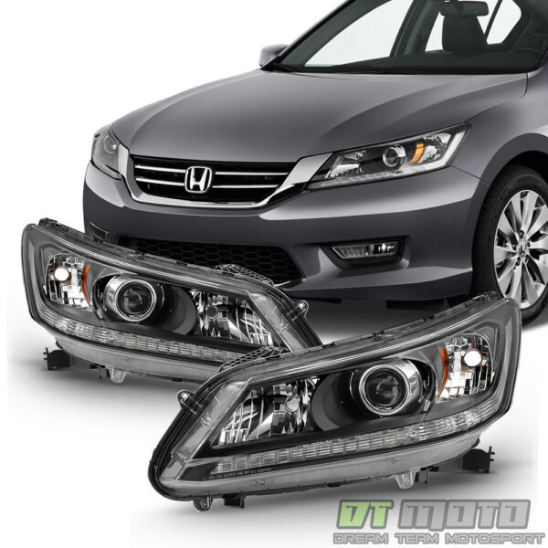 For 2013 2014 2015 Honda Accord Sedan Headlights Halogen Headlamps LeftRight