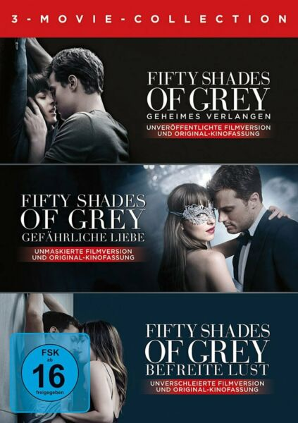 Fifty Shades of Grey 1+2+3 / 3-Movie Collection # 3-DVD-BOX-NEU
