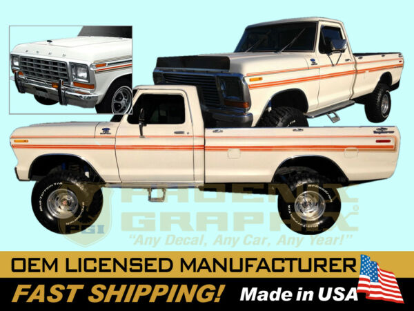 compatible with 1979 Ford F 150 F 250 Explorer Custom Truck Decal Stripe $189.00