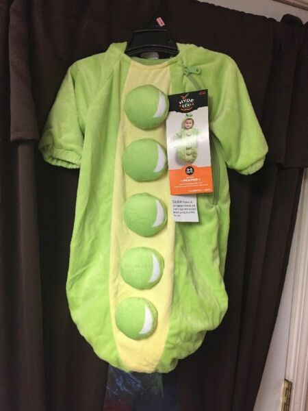 New Baby Plush Peapod Bunting Costume Green Size:0 6 Months