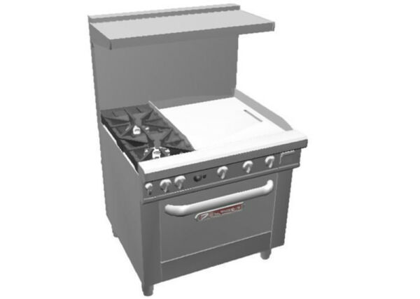 Southbend 4363A 2G* Ultimate 36quot; Gas Star Burner Range w 24quot; Griddle amp; Con Oven $8288.50