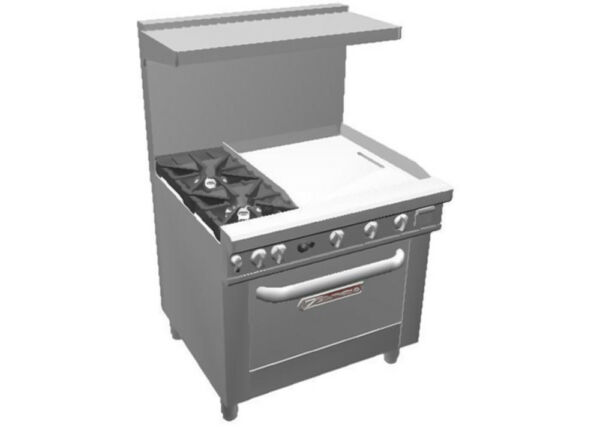 Southbend 4363D 2T* Ultimate 36quot; Gas Star Burner Range w 24quot; Griddle amp; Oven $6351.50