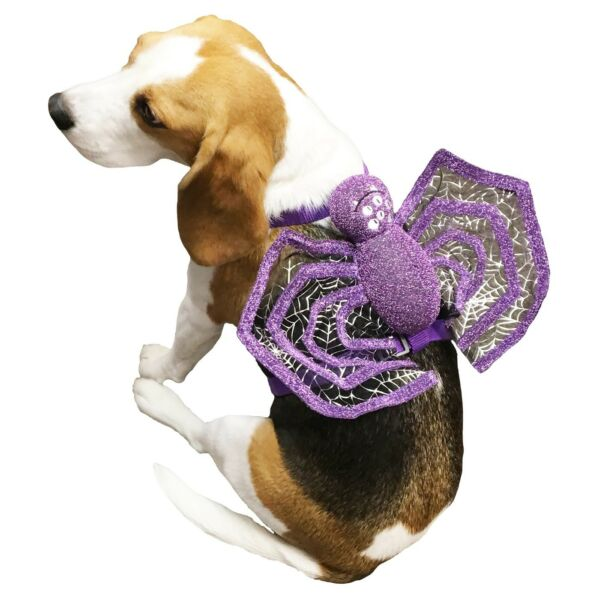 New Purple Spider Dog Harness Size:  S