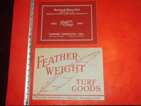 JJ928 Vintage LOT 1964 Feather Weight Turf Goods Racing Catalog