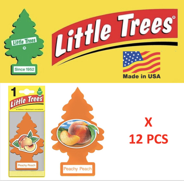 Peachy Peach Freshener Little Trees Air Tree 10319 MADE IN USA Pack of 12