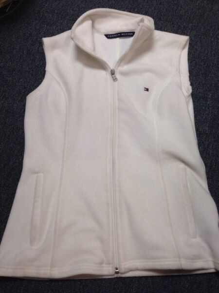Tommy Size S P Small Petite Best White Zip Up Tommy Hilfiger $14.99