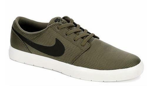Men's NIKE SB PORTMORE Ii ULTRALIGHT Olive Green Skateboard Sneakers Shoes NEW