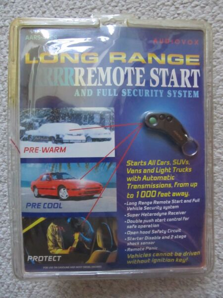 Remote Start Security System with Two 3 Button Remotes Audiovox AA-RS40CS