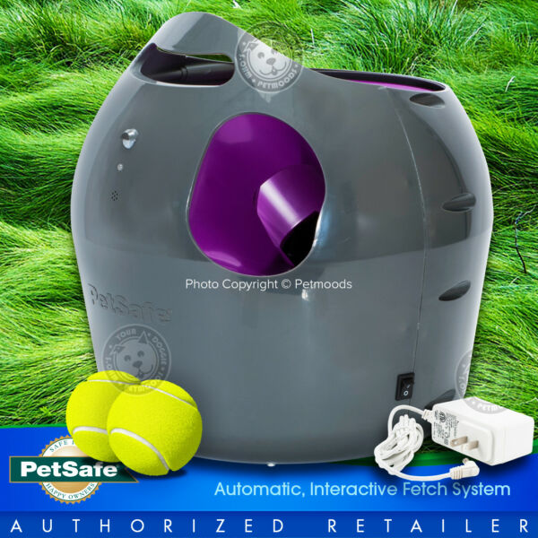 PetSafe Automatic Ball Launcher Interactive Dog Fetch Toy w 2-Balls PTY00-14665