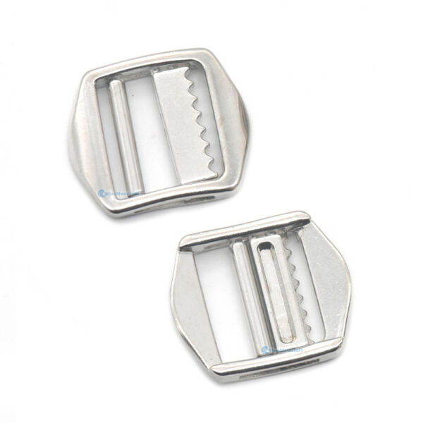 20mm Zinc Alloy Double Bar Roller Sliding Triglides Adjustor Buckle collar Strap