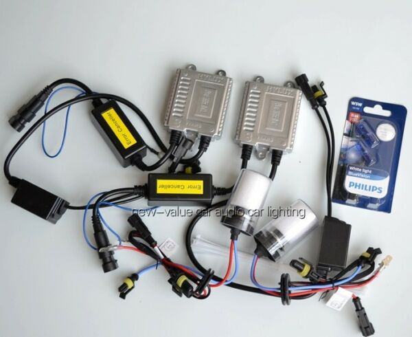 (CAN-BUS) H3 5000K Germany ASIC chip slim HYLUX Xenon HID kit + PHILIPS T10