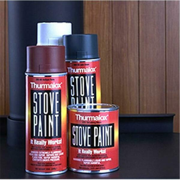 Thurmalox Stove Paint 270-02 Satin Black Stove Paint 12 oz - Case of 12