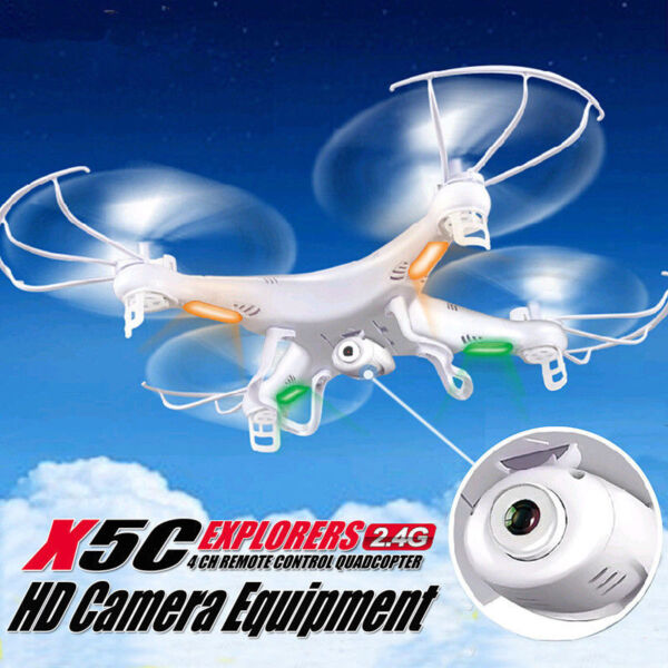 Outdoor Sports X5C 2.4Ghz 6-Axis Gyro RC Quadcopter Drone W/ 2MP HD Camera