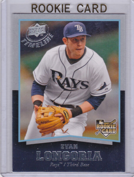 Evan Longoria RAYS ROOKIE CARD Upper Deck Timeline RC Tampa Bay Baseball STAR 3B