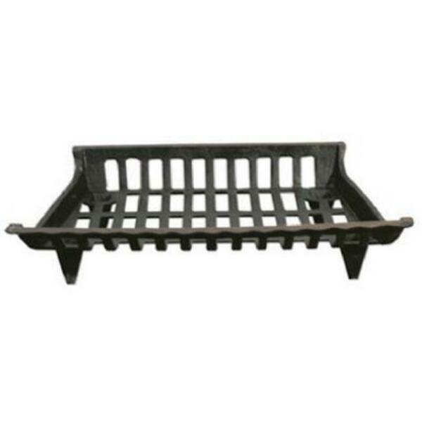 GHP CG24 24 in. Cast Iron Fireplace Grate Black
