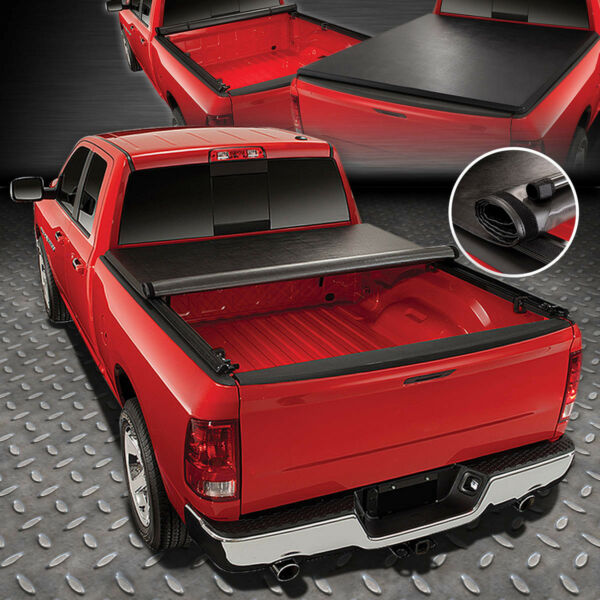 FOR 04 18 FORD F150 FLEETSIDE 5.5FT TRUCK BED SOFT VINYL ROLL UP TONNEAU COVER