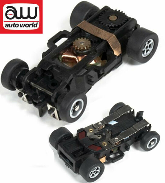 Autoworld Complete Xtraction Rolling Chassis Ho Scale Slot Car AW X-Traction $11.79