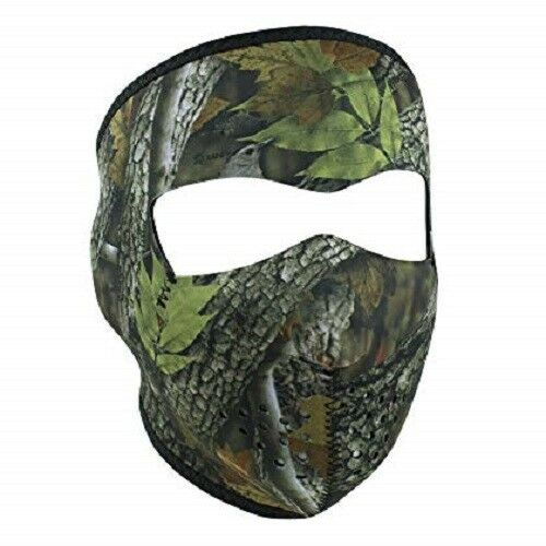 Mossy Camo Camouflage Green Oak Leaf Neoprene Full Face Mask Hunter Hunting
