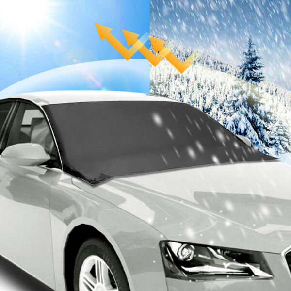Car Windshield Snow Sun Cover Tarp Ice Scraper Frost Dust Removal Truck Van SUV